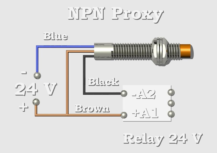pnp prox switch schema cablage