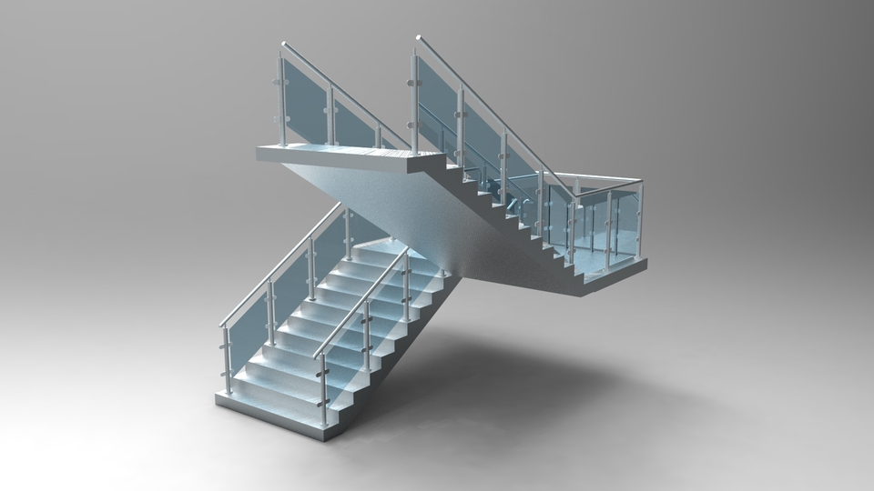 Stairs 3d Cad Model Library Grabcad