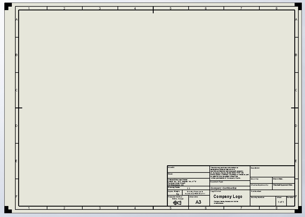 Solidworks Drawing Templates Costumepartyrun
