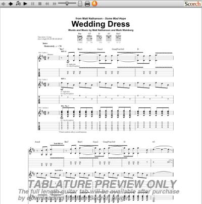 matt nathanson wedding dress chords | taranta