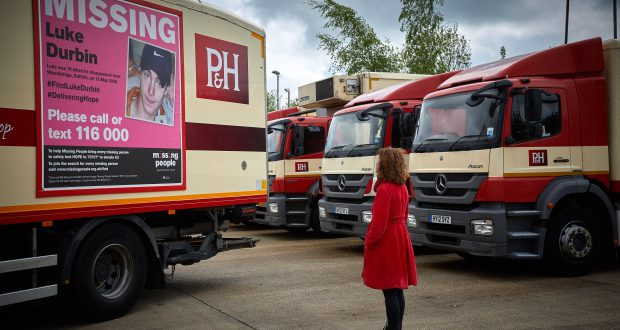 PH partners with Missing People charity for lorry poster campaign - missing people posters