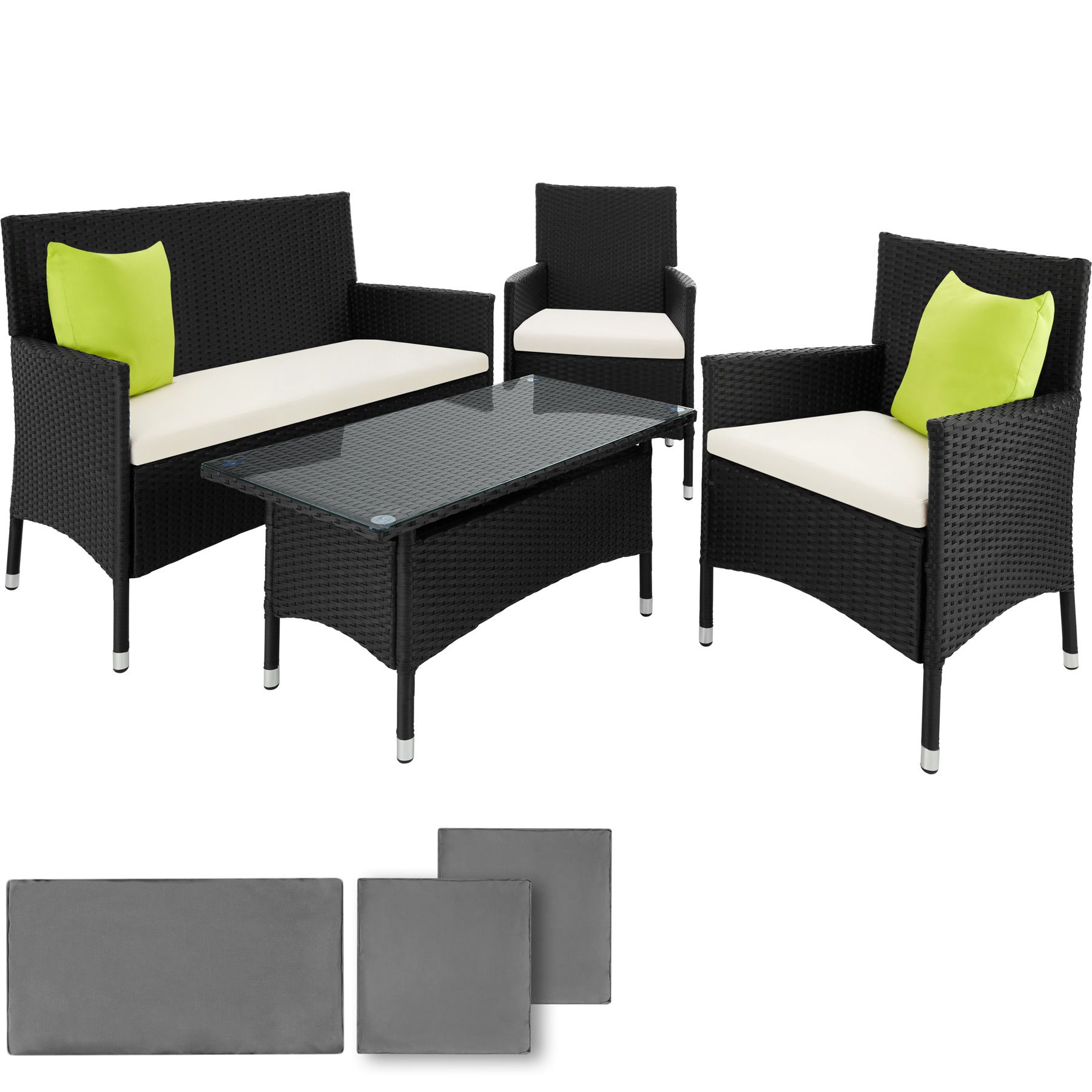 Polyrattan Bank Details About Poly Rattan Aluminium Garden Furniture 2 Chairs Bench Table Set Outdoor Wicker