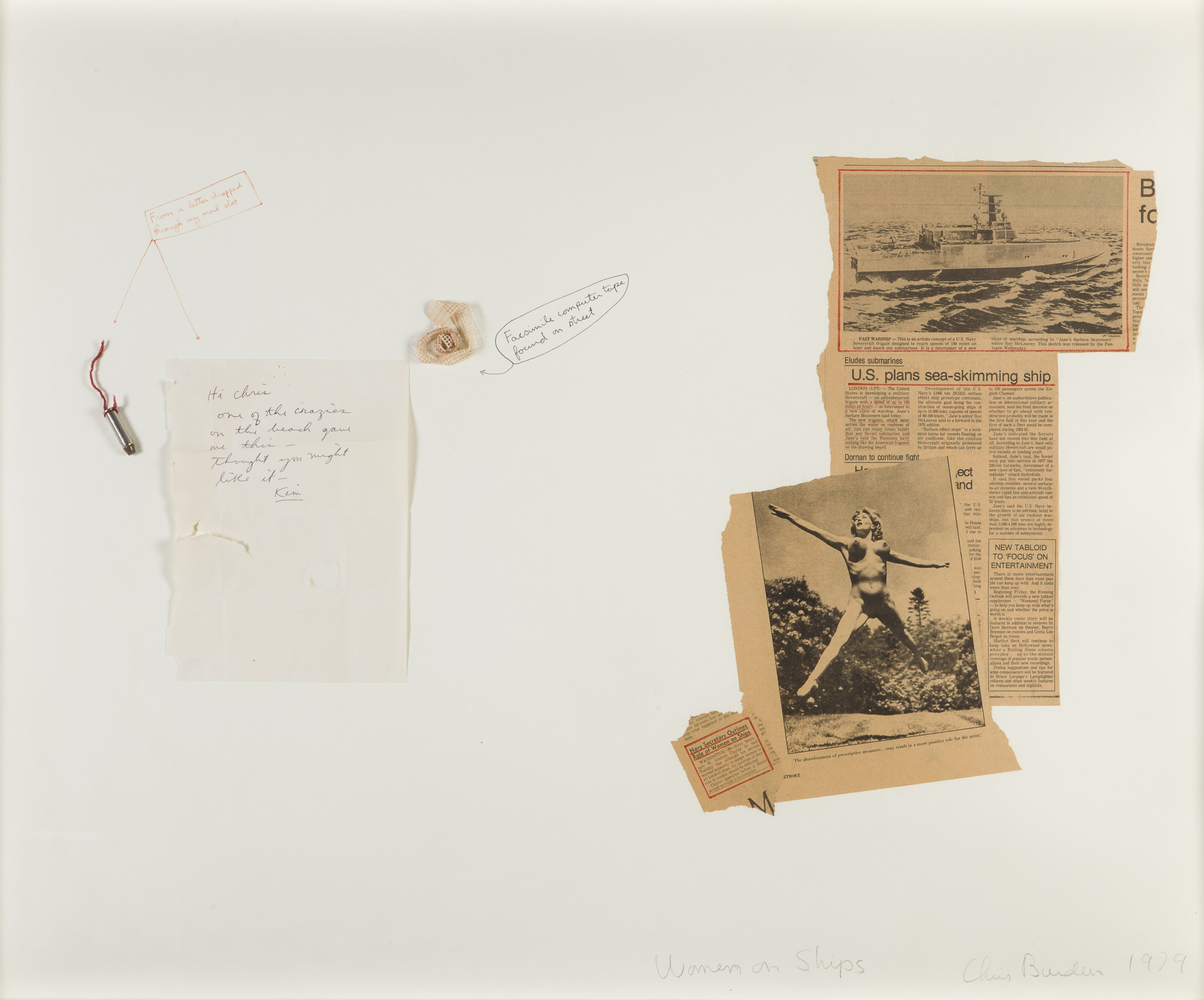 Be To Serien Chris Burden Woman On Ships From The Devil Drawings Serien