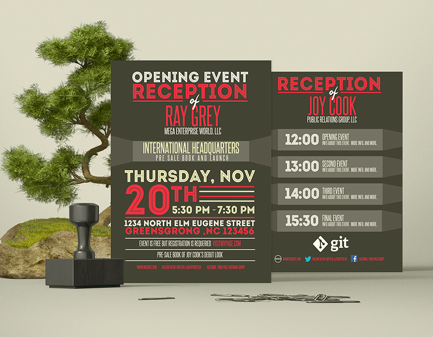Event Program Template PSD - Flyer/Brochure - Graphicfy