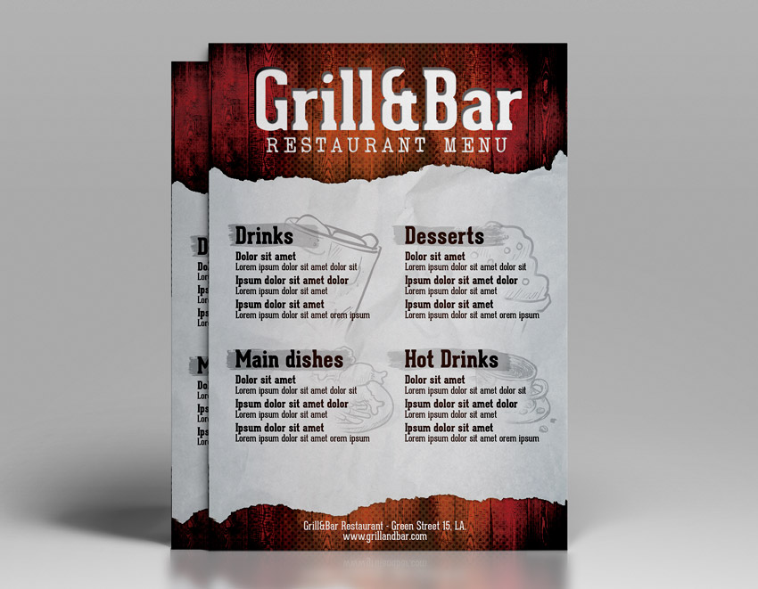 Restaurant Flyer Template - Download PSD Designs