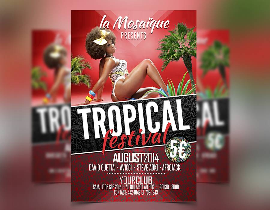 Tropical Summer Flyer Template - Download Flyer Templates