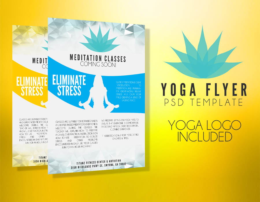 Yoga Flyer Template PSD - Flyer Templates - Graphicfy - yoga flyer