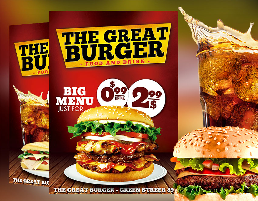 Fast Food Restaurant Flyer Template PSD - Download Graphicfy Flyers - food flyer template