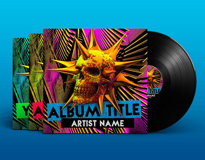 EDM Album Cover PSD Template \u2013 Graphicfy