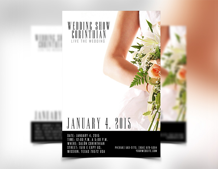 Wedding Flyer Template PSD - Download - Graphicfy - wedding brochure template