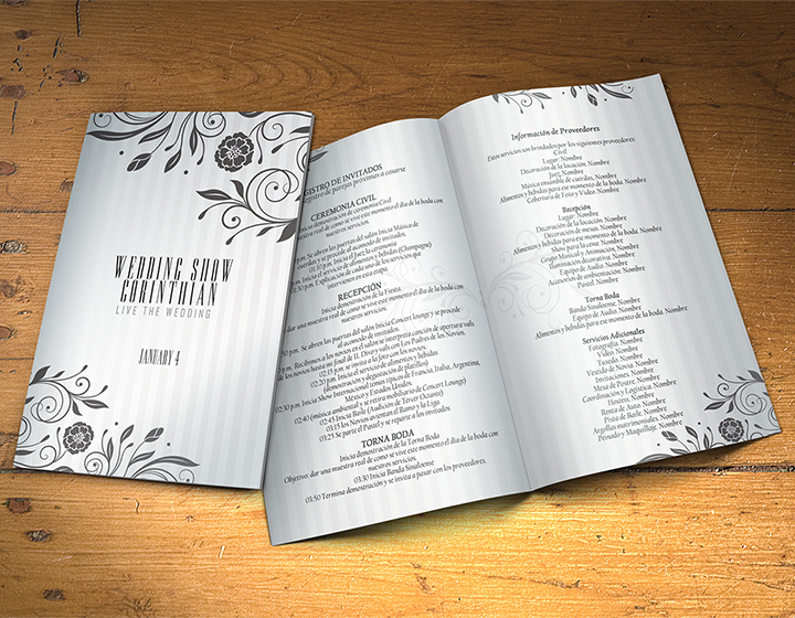 Wedding Program Template PSD 2 Sides - Graphicfy - wedding program template