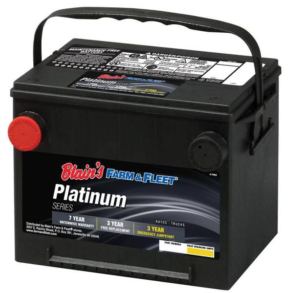 Blain\u0027s Farm  Fleet 7-Year Platinum Automotive Battery