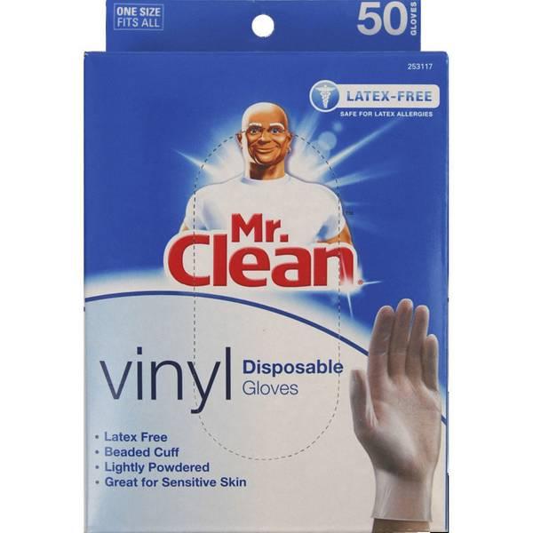 Mr Clean Vinyl Disposable Gloves