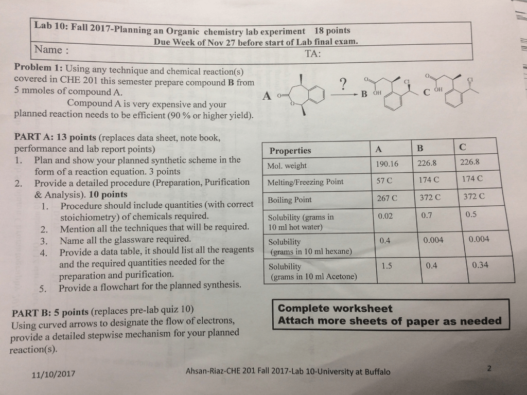 techniques of organic chemistry pre lab answers