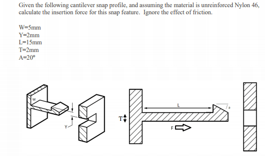 Solved Given The Following Cantilever Snap Profile And A