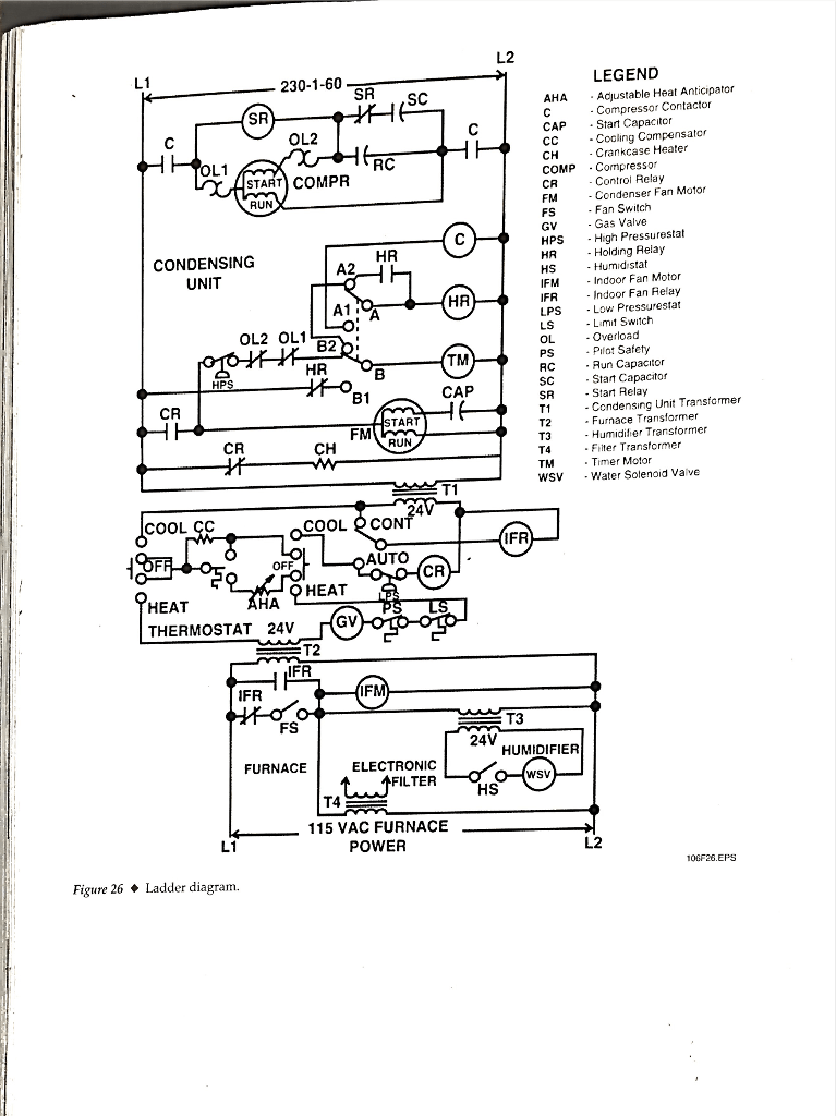 hvac wiring ladder diagram