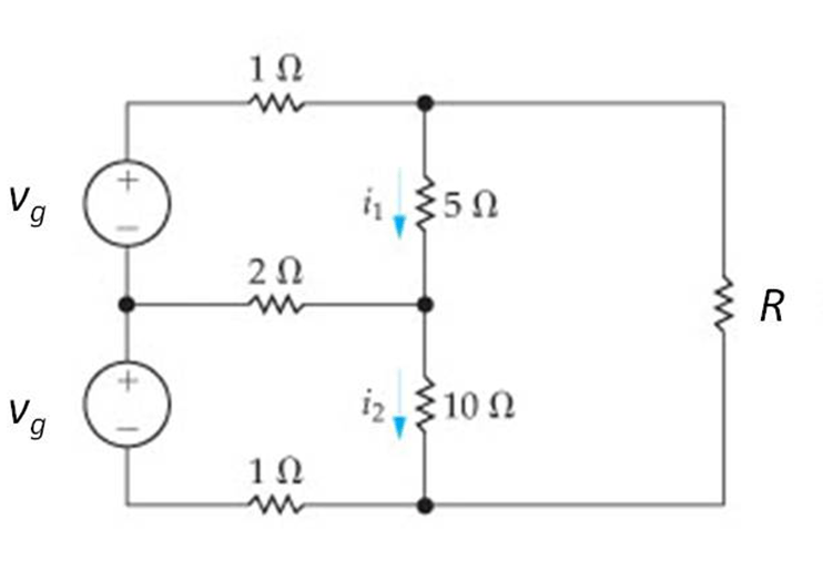 solved for the circuit shown a what value of vg is