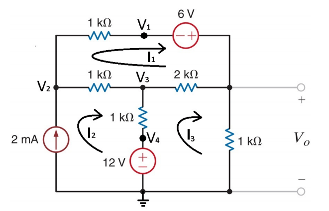 circuit use nodal analysis to solve the circuit and find v0 use