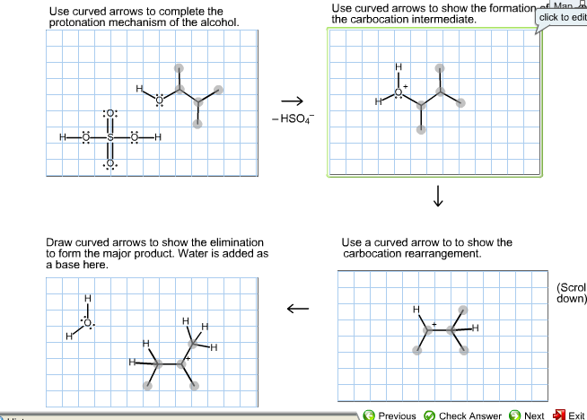 Solved For The Following Dehydration Use Curved Arrows T