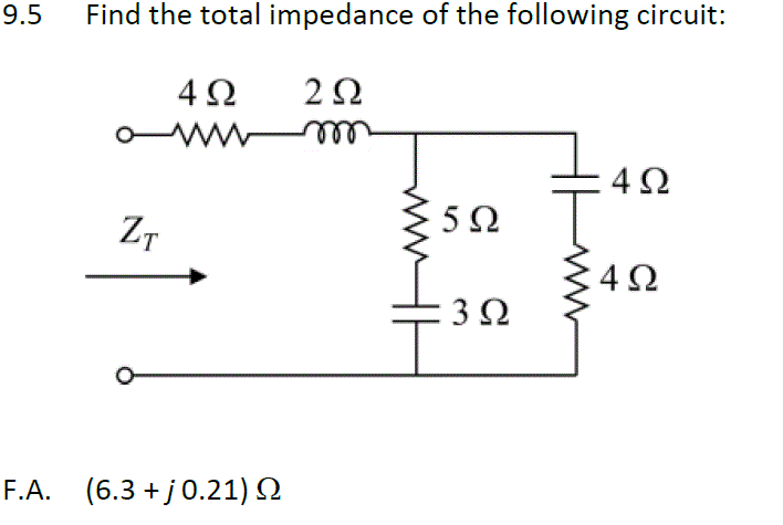 total impedance of electrical circuit