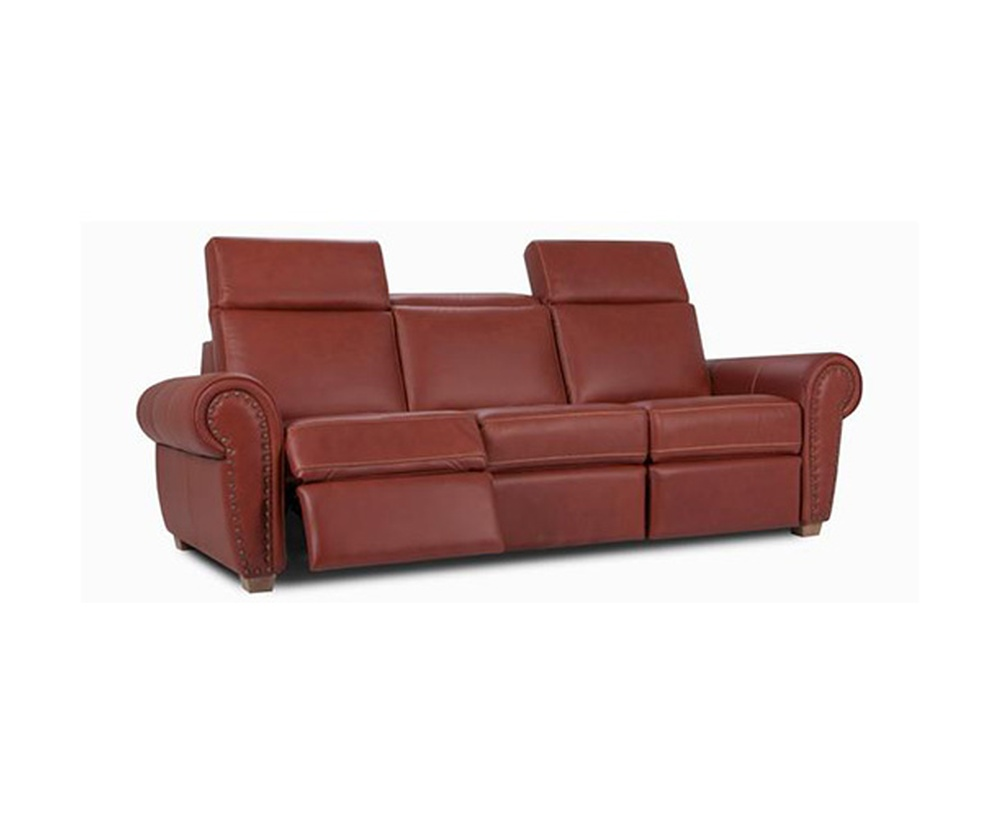 Custom Made Leather Upholstered Recliners Sofa Burlington