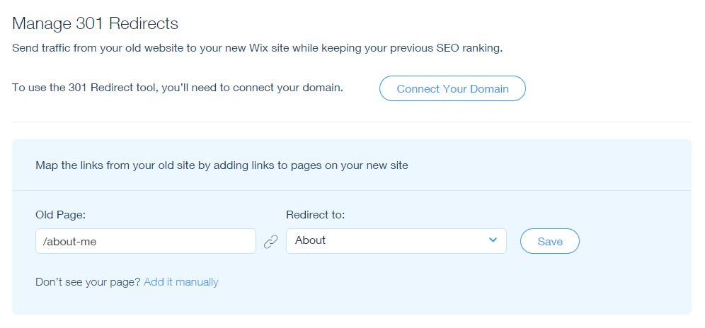 Setting Up 301 Redirects From One URL to Another Help Center Wix