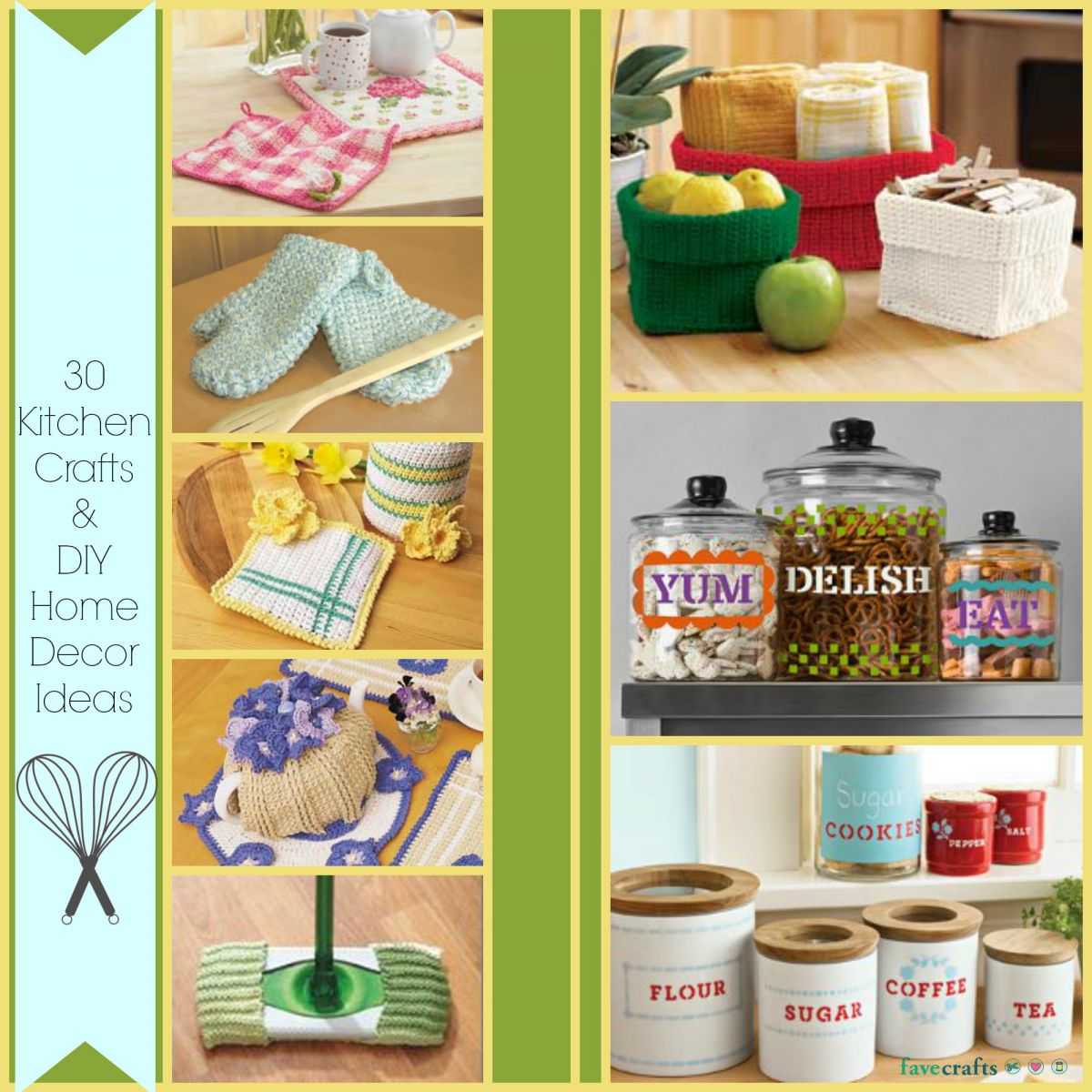 30 kitchen crafts and diy home decor ideas