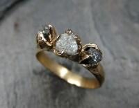 Rough-uncut-diamond-engagement-ring-Etsy - HoneyBrides
