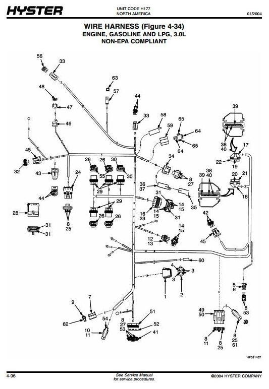 two wire hyster alternator wiring diagram
