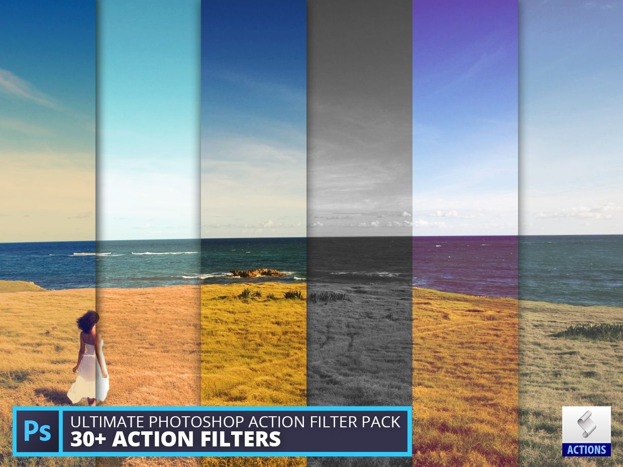 Filter Photoshop Ultimate Photoshop Action Filter Pack (vol.1)