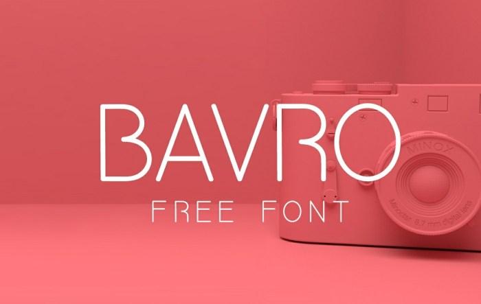 BAVRO Font Download