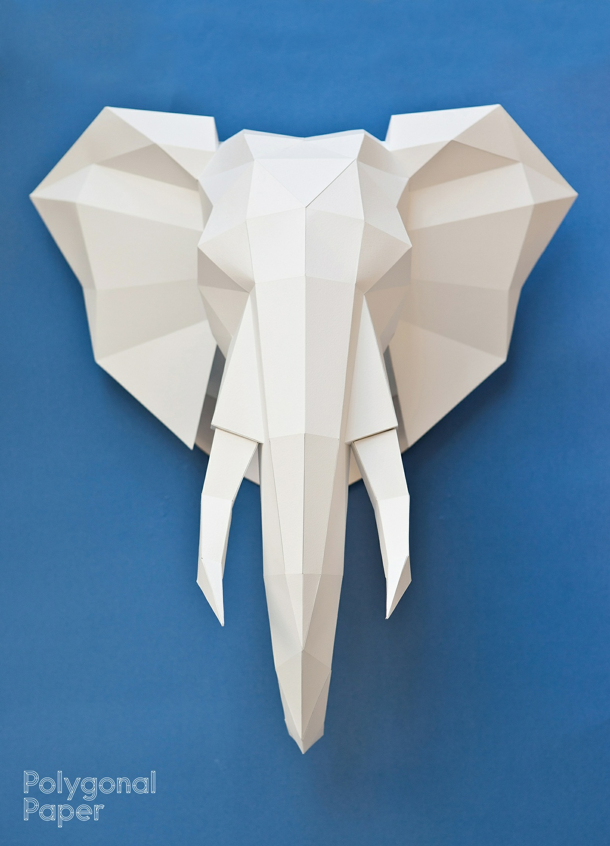 Papertrophy 2d Elephant Head Template With Manual On English