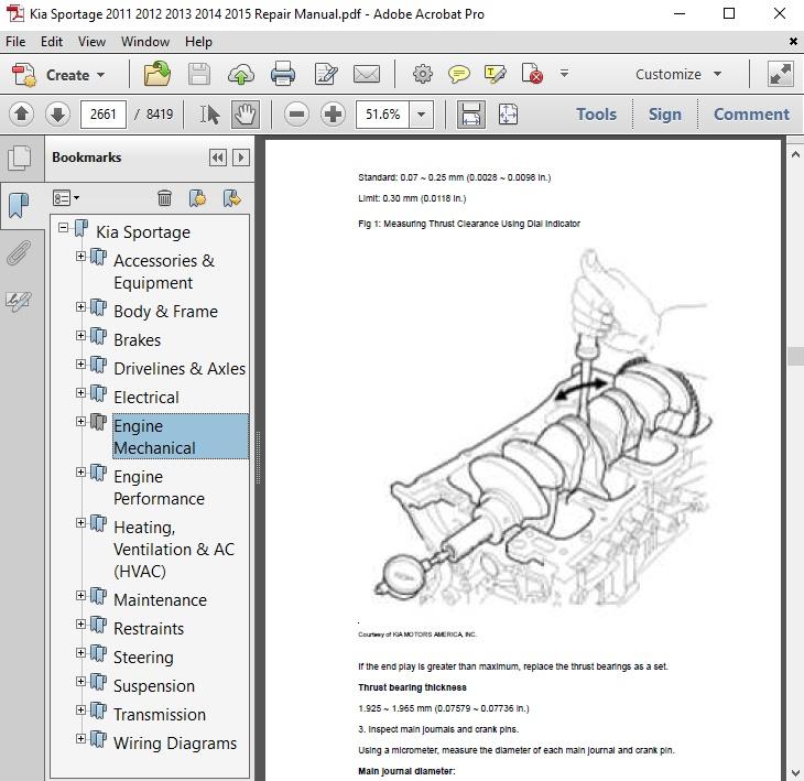 Kia Sportage 2011 2012 2013 2014 2015 Repair Manual - autoservicerepair