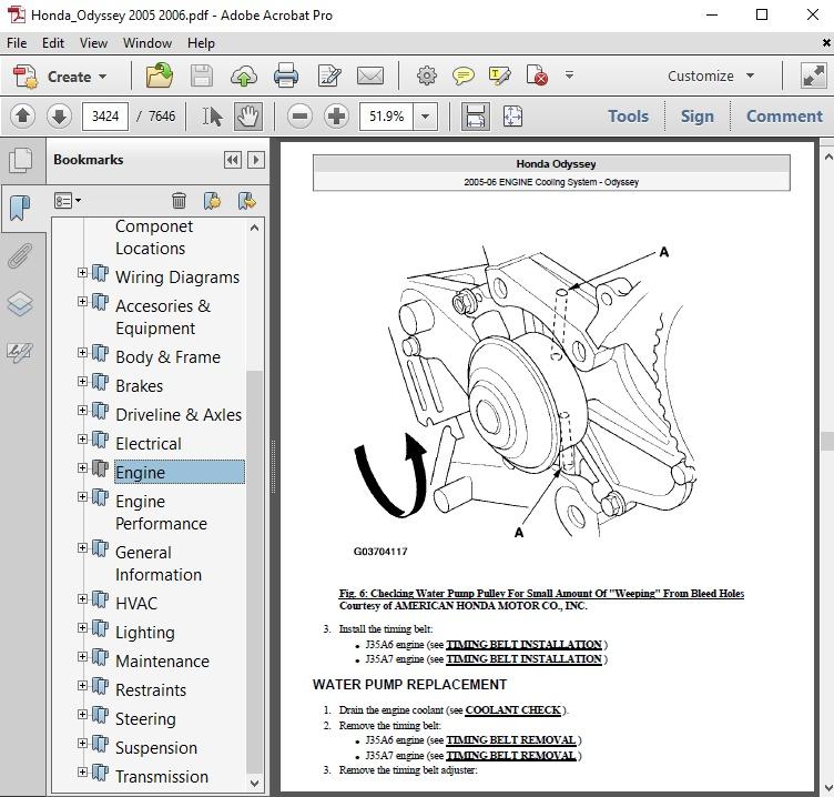2007 Honda Odyssey Wiring Diagram Pdf Repair Manual Download Manual