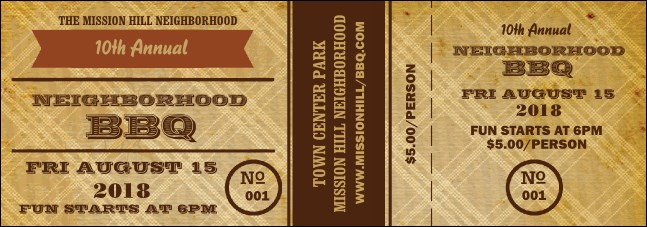 bbq ticket template free