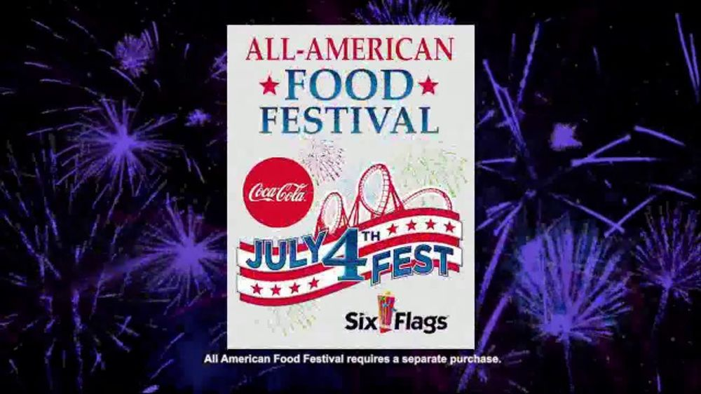 Six Flags July 4th Fest TV Commercial, \u0027All-American Food Festival