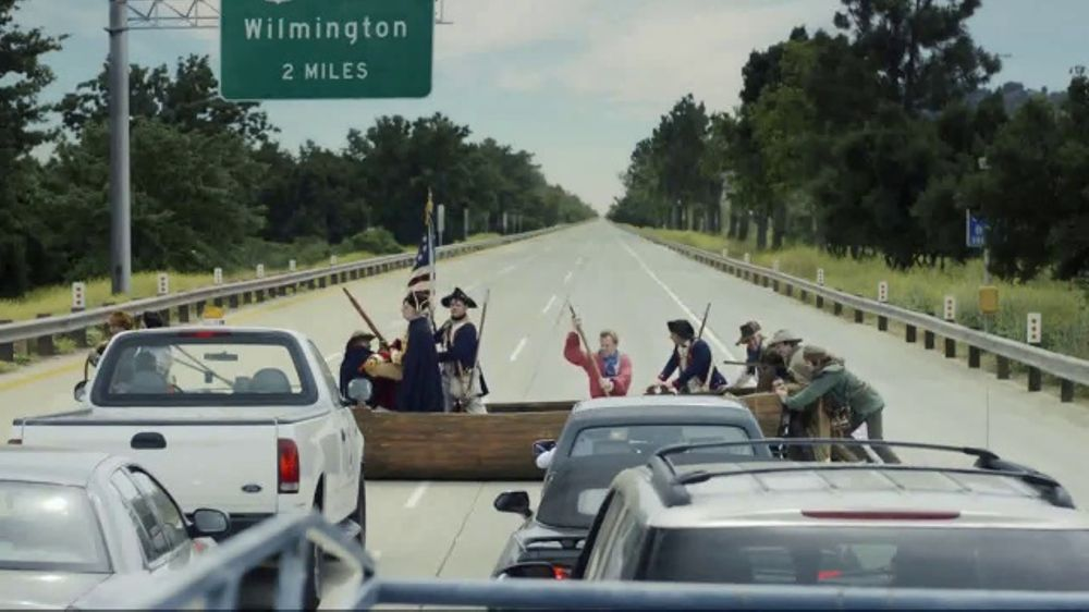 GEICO TV Commercial, \u0027Washington Crossing the Delaware\u0027 Feat Bryan