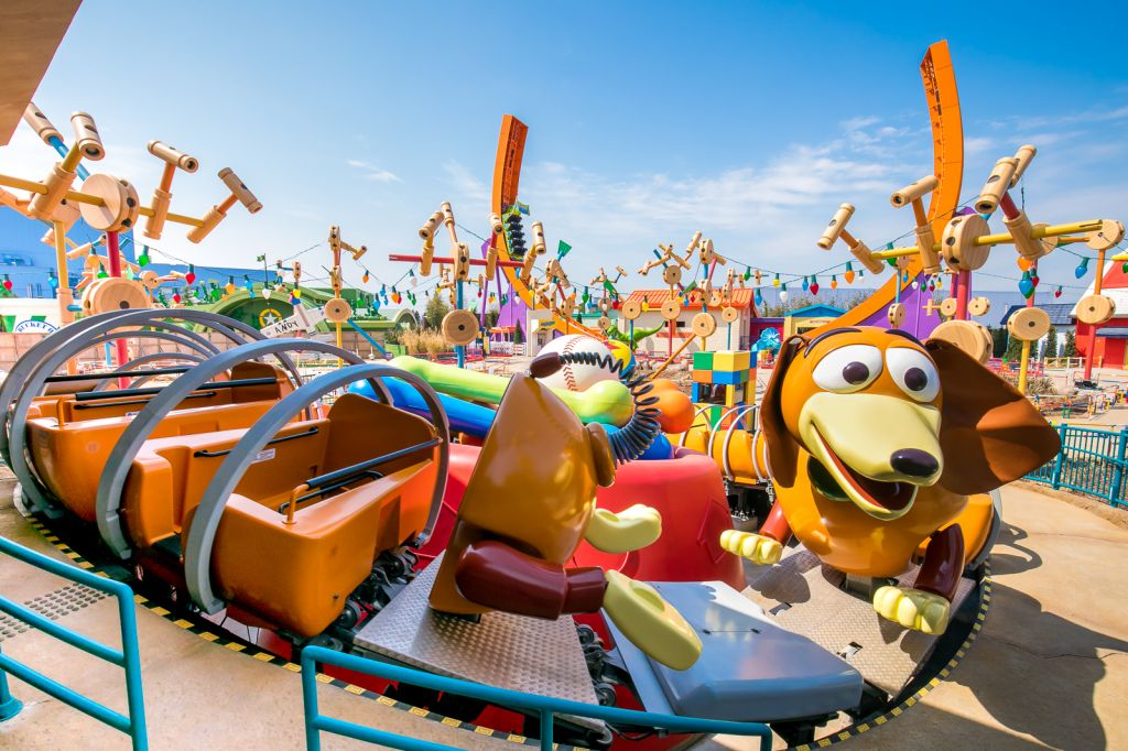 Installation Of Toy Story Rides Complete At Shanghai