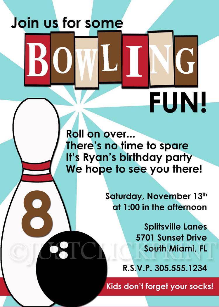 Funny Bowling Invitation Wording Ivoiregion
