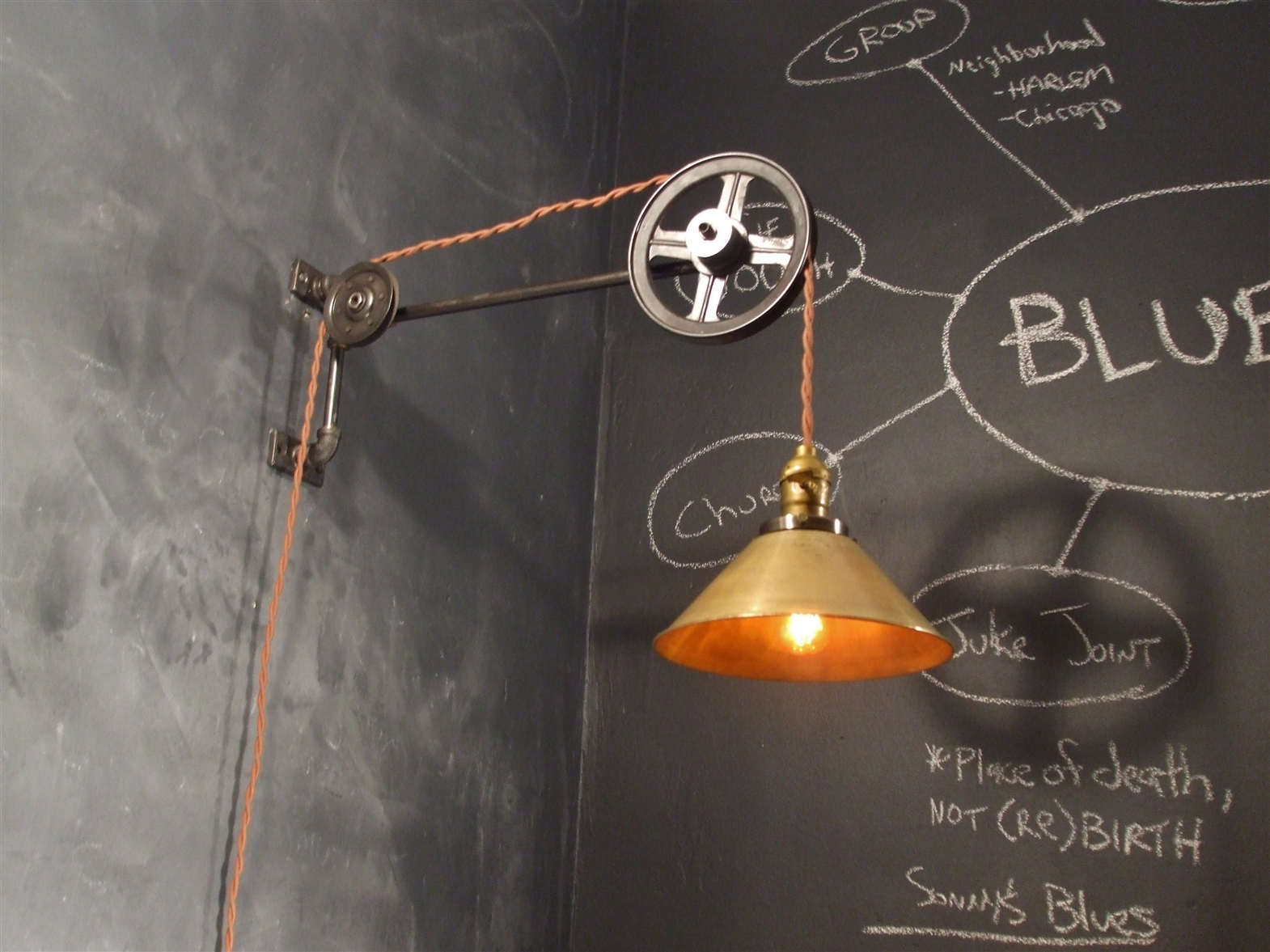 Industrial Vintage Lighting Vintage Industrial Style Pulley Lamp On Storenvy