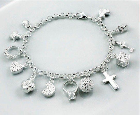 Silver Charm Bracelet Silver Jewelry Silver Jewelry