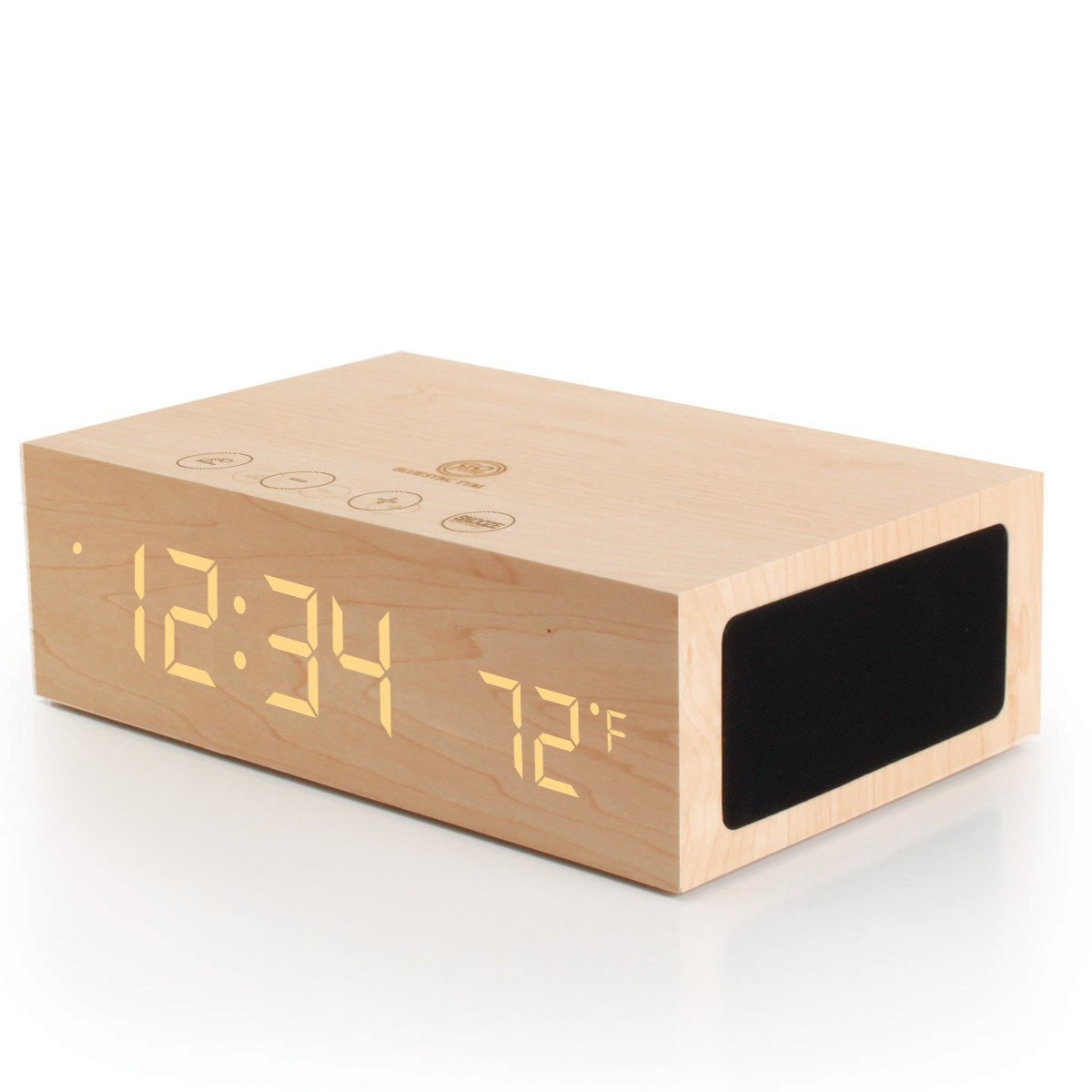 Box Bluetooth W1 Bluetooth Alarm Clock Speaker Box