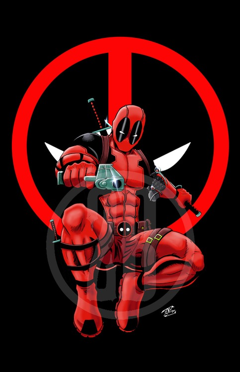 Hd Wallpapers Of Nail Art Deadpool Black With Logo Background On Storenvy