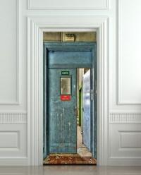 Wall Door STICKER sortie entrance WC entrance social ...