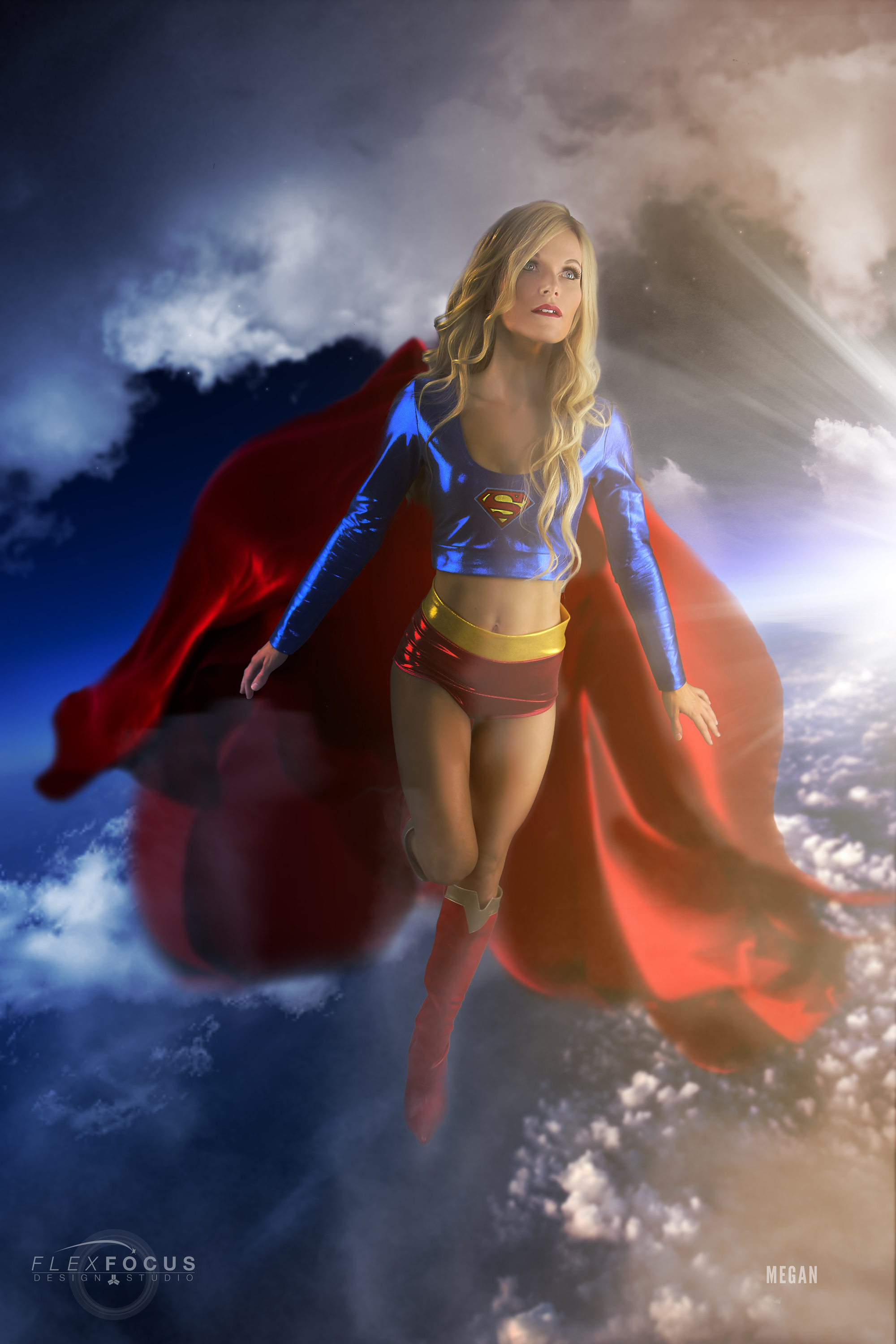 How Girl Wallpaper Supergirl In Flight 12 X 18 Poster 183 Cosplay Composites