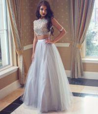 Grey prom dress,A