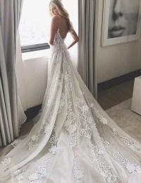 2017 Wedding Dress, White Lace Long Wedding Dress, Bridal ...