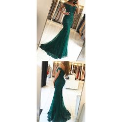 Masterly Green Lace Prom Shoulder Evening Greenprom Dress Green Lace Prom Shoulder Evening Emerald Green Dress Windsor Emerald Green Dress Shirt