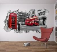 London Wall Decal 3d - Broken Wall Decal - 3d Wallpaper ...