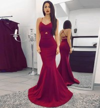 Burgundy Sweetheart Formal Gown,Mermaid Prom Dress,Evening ...